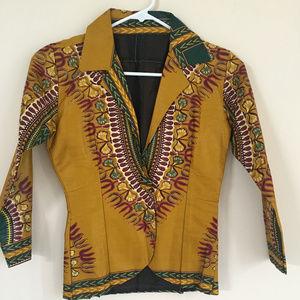 Jackets & Blazers - Ankara African Print Short Blazer